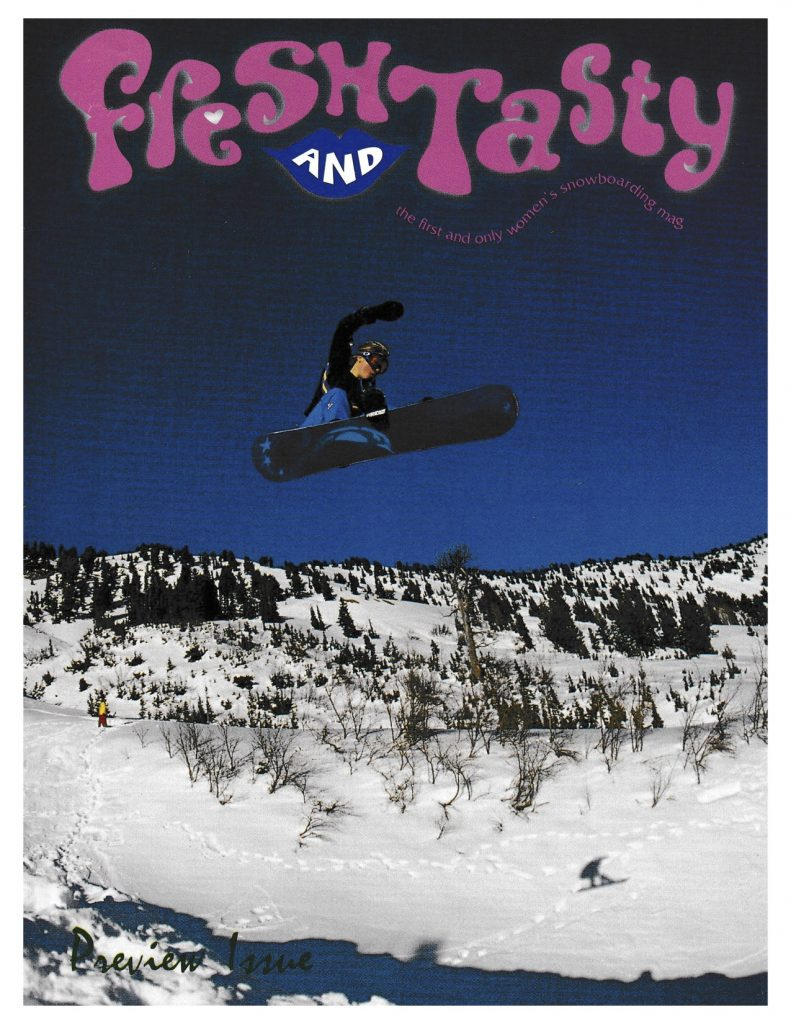 First Cover of the First Women's Snowboard Magazine